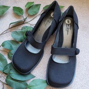 Black chunky doll or Japanese style heel